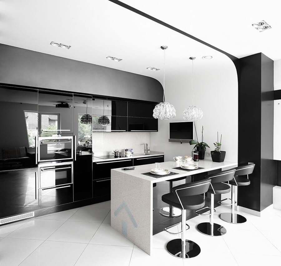 conception de cuisine noir