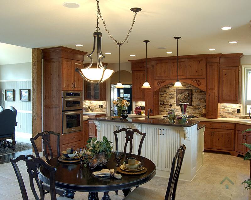 cuisine et armoire de bois