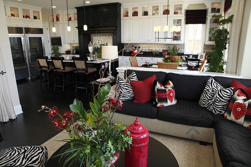 cuisine et salon blanche