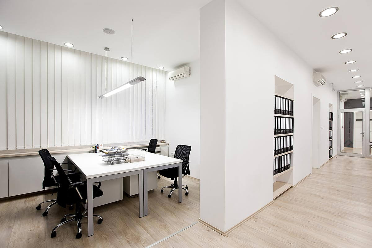espace de travail blanc