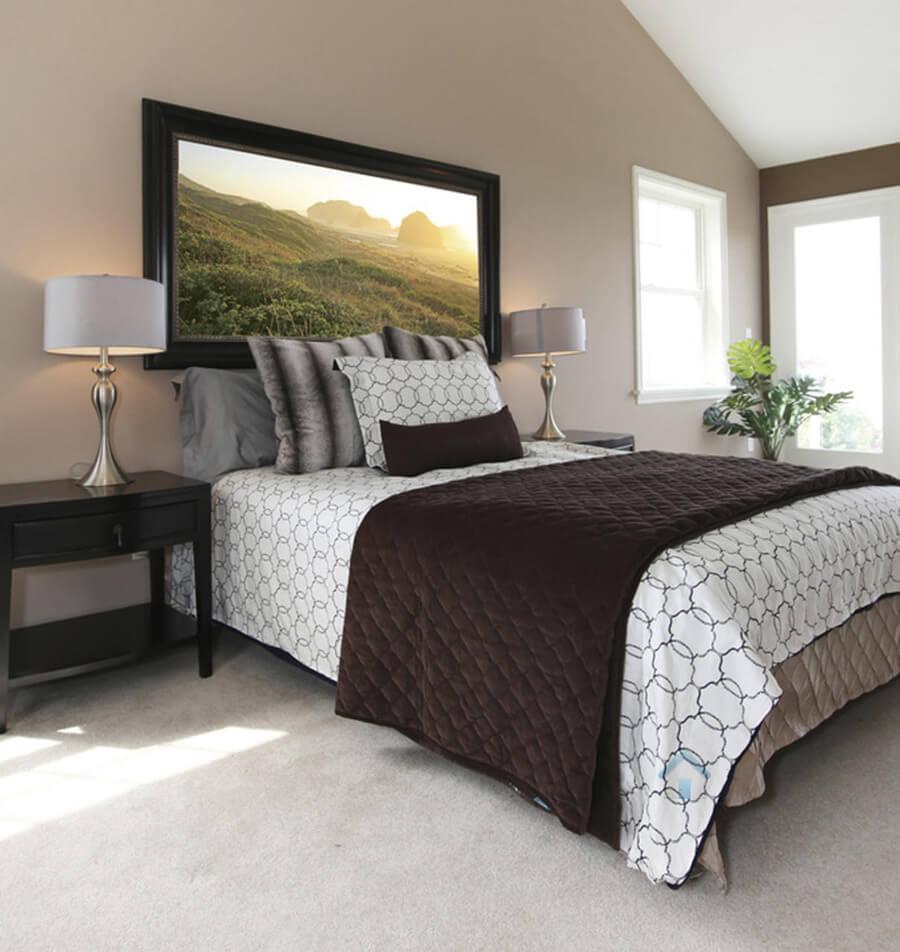 peintre pour chambre avec couleur brun