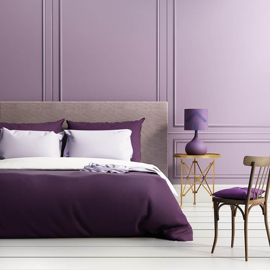 peintre pour chambre violette