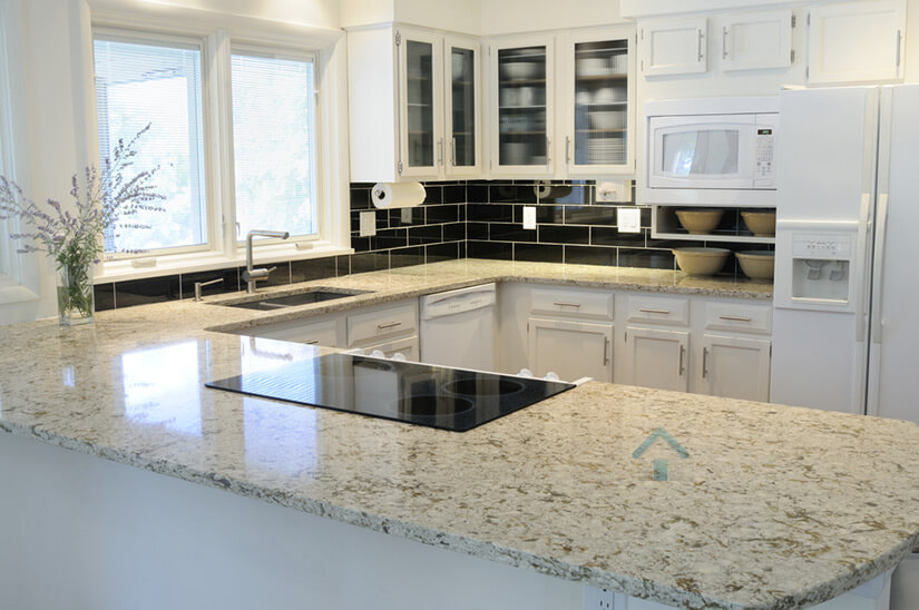 peintre pour cuisine et comptoir de granite