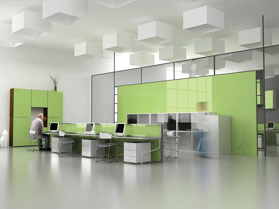 peinture commercial pour bureau vert