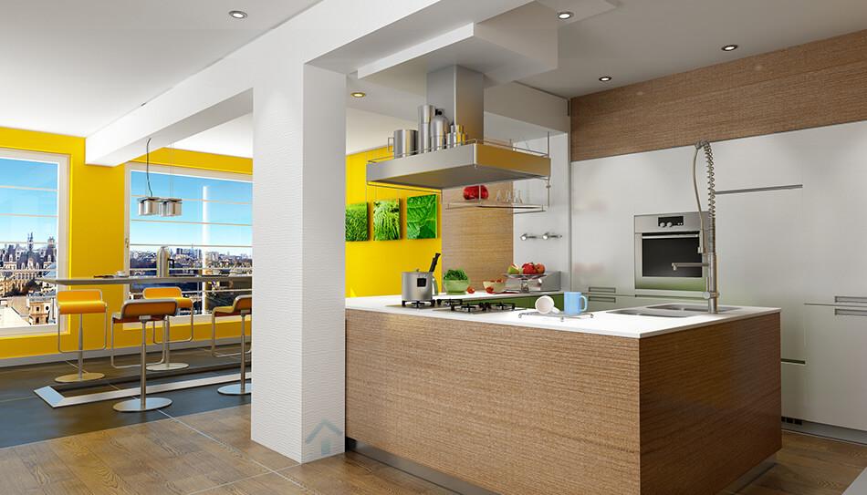 peinture jaune pour cuisine